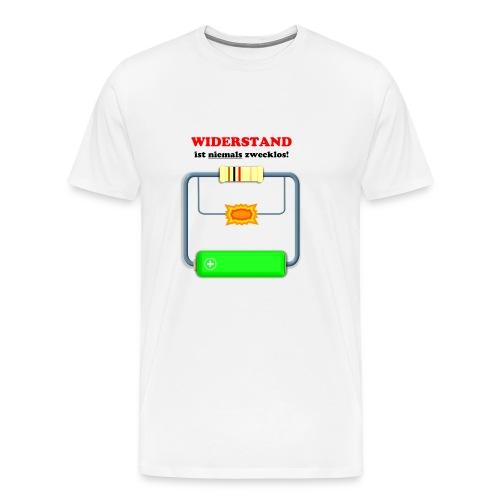 Widerstand ist niemals zwecklos - Männer Premium T-Shirt
