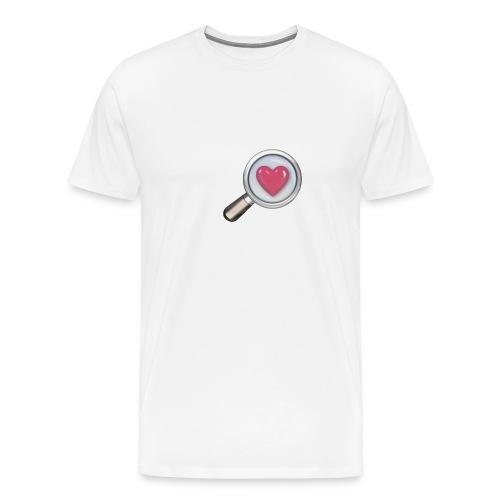 Herz mit Lupe - Männer Premium T-Shirt