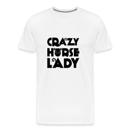 Crazy Horse Lady - Men's Premium T-Shirt
