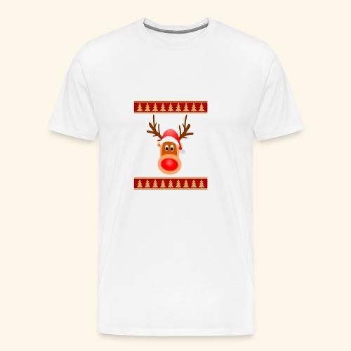 Weinachten Elch Renntier - Männer Premium T-Shirt