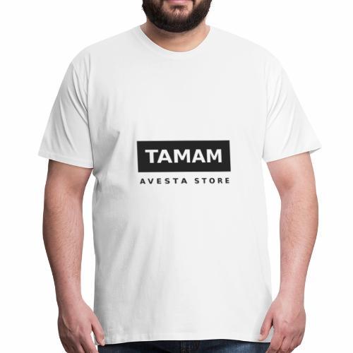Dunkles Tamam-Motiv - Männer Premium T-Shirt