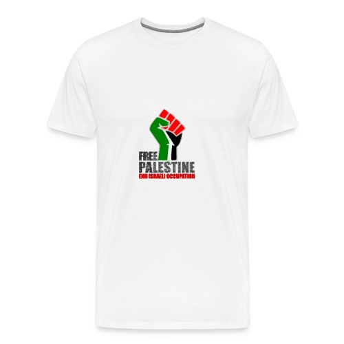 Free Palestine end Israeli occupation - Männer Premium T-Shirt