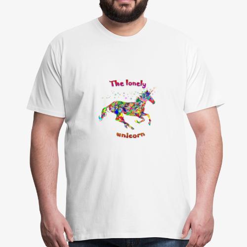Lonely Unicorn - Männer Premium T-Shirt