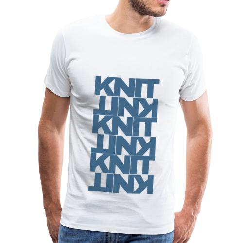 Garter Stitch, dark - Men's Premium T-Shirt