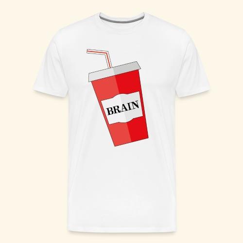 Mehr Hirn - Männer Premium T-Shirt