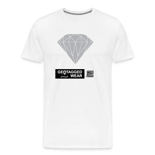 Men Diamond Pantone Habour Mist - Männer Premium T-Shirt