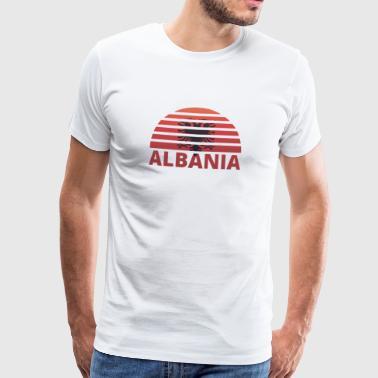 Puesta de sol Sunburst raíces Inicio Inicio Inicio ALBANIA h - Camiseta premium hombre