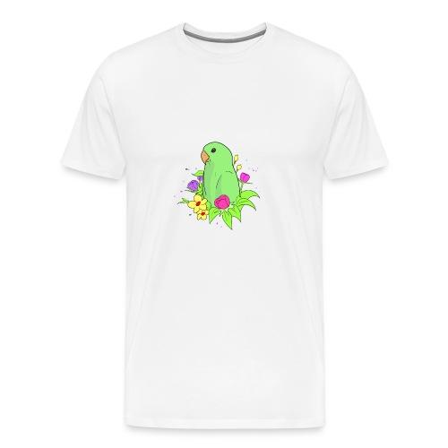 Zwerg Papagei Sperlingspapageien Unzertrennliche - Männer Premium T-Shirt