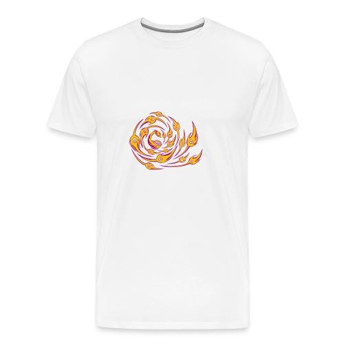 Feuer Drachen Vogel Symbol Kreis T-Shirt - Männer Premium T-Shirt