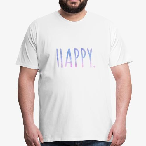 Happy - Watercolor Style - Typo - Männer Premium T-Shirt