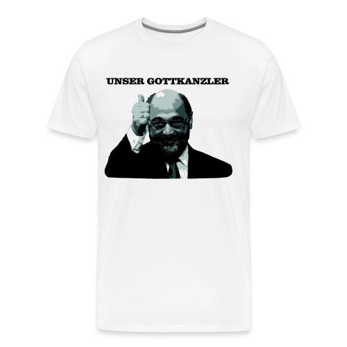 Gottkanzler Schulz - Männer Premium T-Shirt