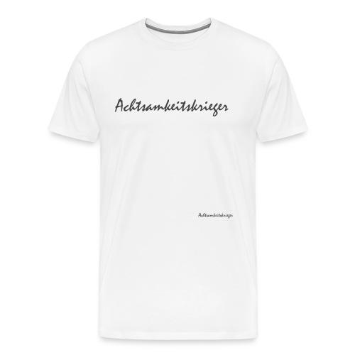 Achtsamkeitskrieger - Männer Premium T-Shirt