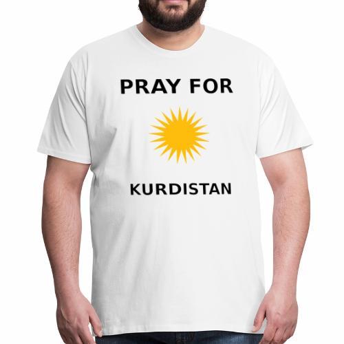 Pray For Kurdistan-Motiv - Männer Premium T-Shirt