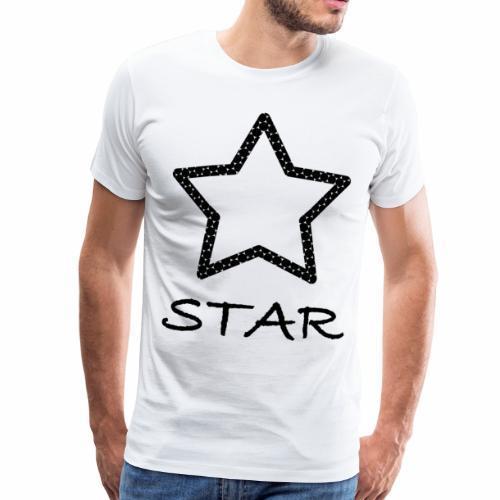 Star Stern schwarz black - Männer Premium T-Shirt