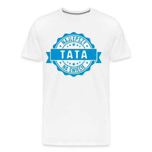 Najlepszy Tata na świecie pieczęć stempel - Koszulka męska Premium