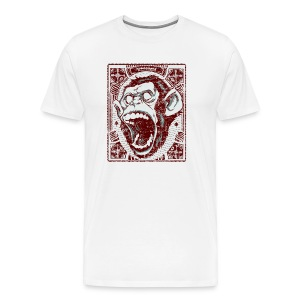 Screaming Monkey - Männer Premium T-Shirt