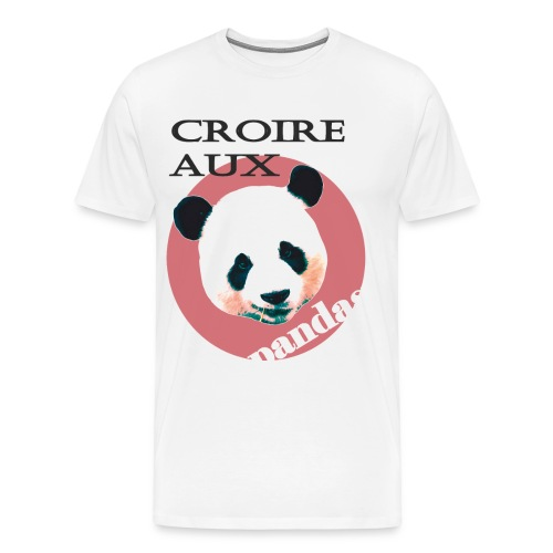 Believe in Pandas - Männer Premium T-Shirt