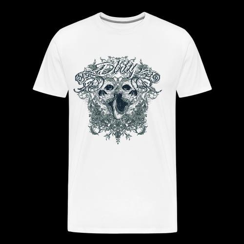 Dirty Totenkopf Gothic T-Shirt - Männer Premium T-Shirt