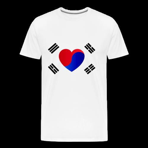 I Love KPop Herz Korea Fahne Flagge K-pop Seoul - Männer Premium T-Shirt