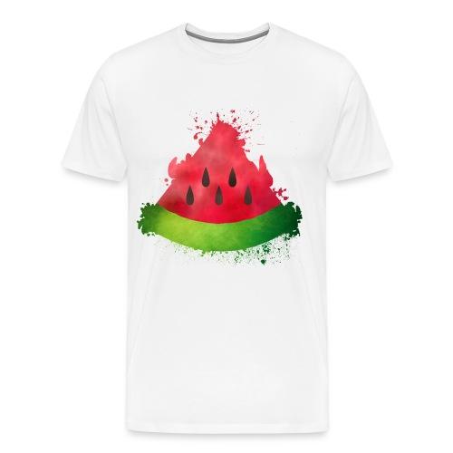Dreieck Wassermelone mit Pinselflecken Melone - Männer Premium T-Shirt