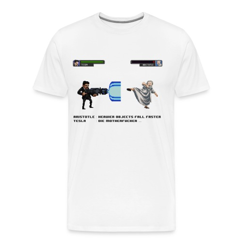 Aristotle vs Tesla - T-shirt Premium Homme