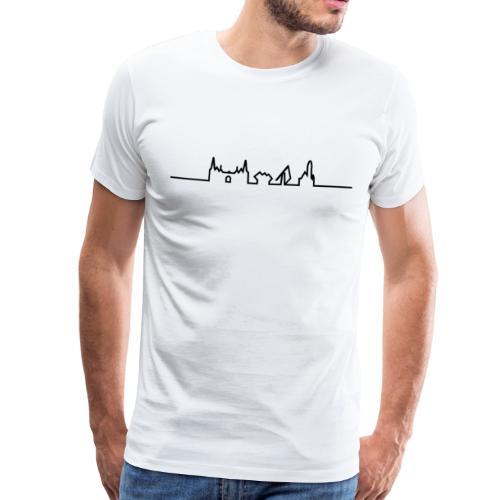 SKYLINE HELMOND ZWART - Mannen Premium T-shirt