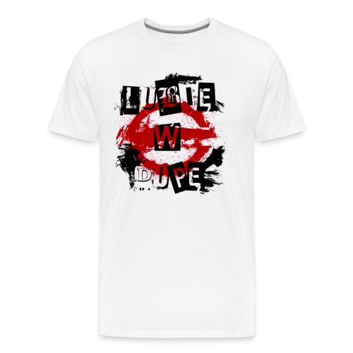 Logo lubie w dupe - Koszulka męska Premium