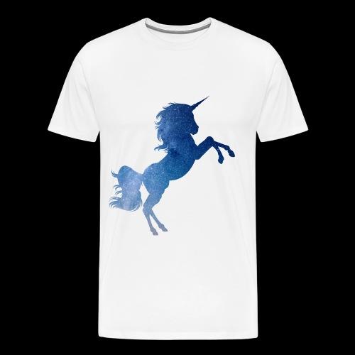 Galaxy Unicorn - Blue - Männer Premium T-Shirt
