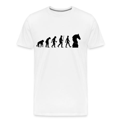 schach | Schachbrett | Schachmatt | Evolution - Männer Premium T-Shirt