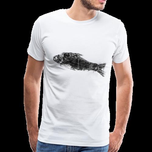 Gyotaku fish ink print - Men's Premium T-Shirt