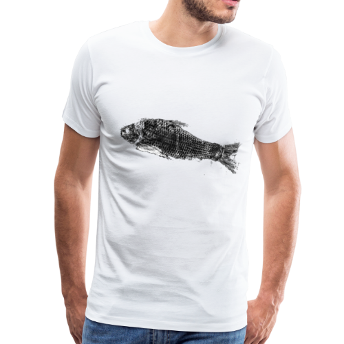 Gyotaku fish ink print - Men's Premium T-Shirt
