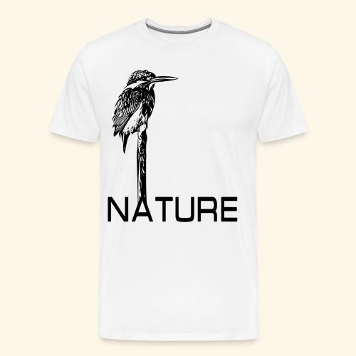 Eisvogel Natur Nature - Männer Premium T-Shirt