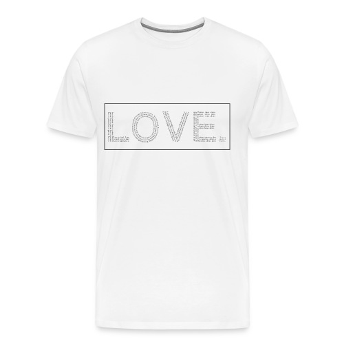 Love letters transparent - Männer Premium T-Shirt