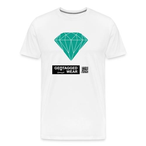 Unisex Diamond Pantone Arcadia - Männer Premium T-Shirt
