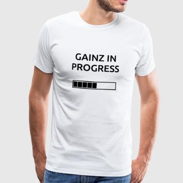Gainz BonW - Premium T-skjorte for menn
