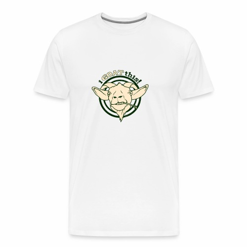 Funny Play on Words Goat Animal - Men's Premium T-Shirt
