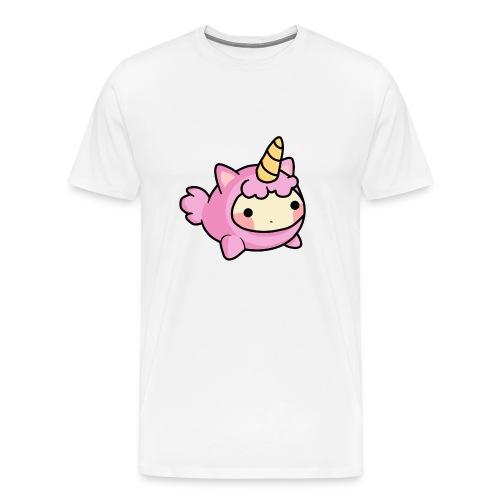 Unicornio Rosa Kawaii - Camiseta premium hombre
