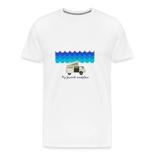 My favorite workplace - Männer Premium T-Shirt
