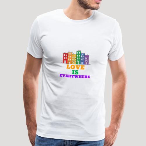 Love is everywhere - Homosexuell - LGBT - Schwul - Männer Premium T-Shirt