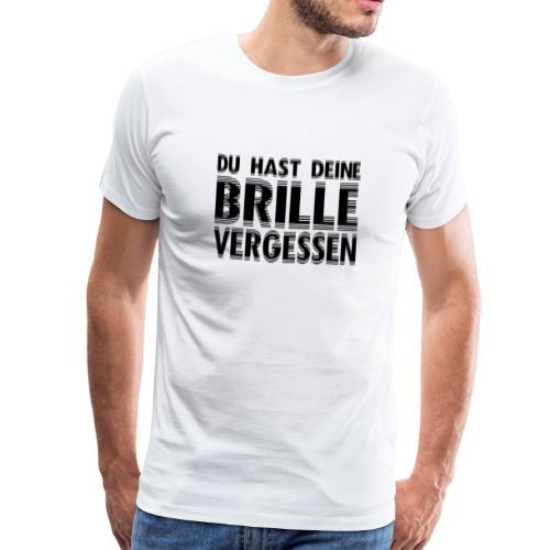 Keine Brille - Männer Premium T-Shirt