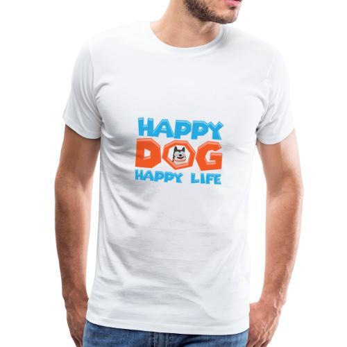 Happy Dog Happy Life - Männer Premium T-Shirt