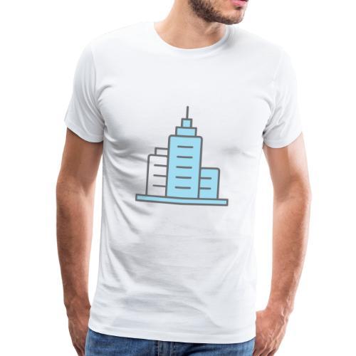 Skyskraper - Premium T-skjorte for menn