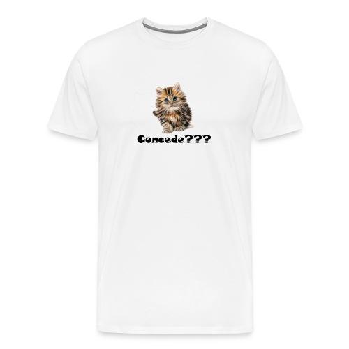 Concede kitty - Premium T-skjorte for menn
