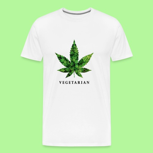 Weed Leaf Vegetarian T-shirt - Men's Premium T-Shirt