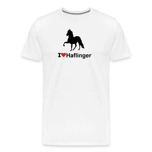 I Love Haflinger - Männer Premium T-Shirt