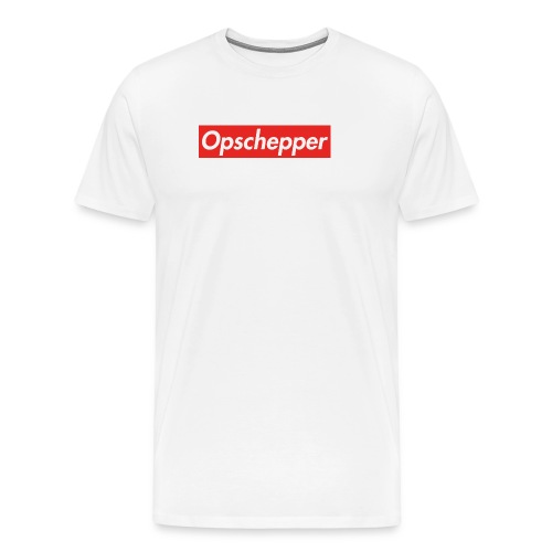 Opschepper (Rood-wit) - Mannen Premium T-shirt