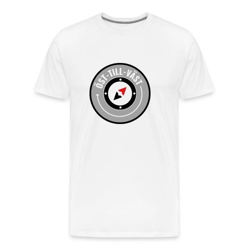 Öst till väst logotyp - Premium-T-shirt herr