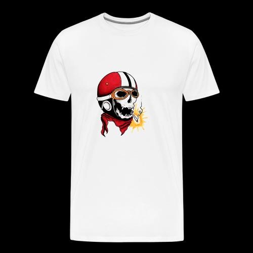 Oldschool skull - T-shirt Premium Homme