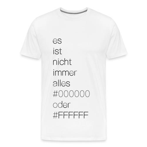 Hex Schwarz und Weiß - Männer Premium T-Shirt