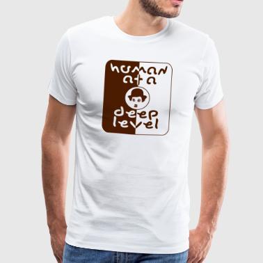 ihmisen - Miesten premium t-paita
